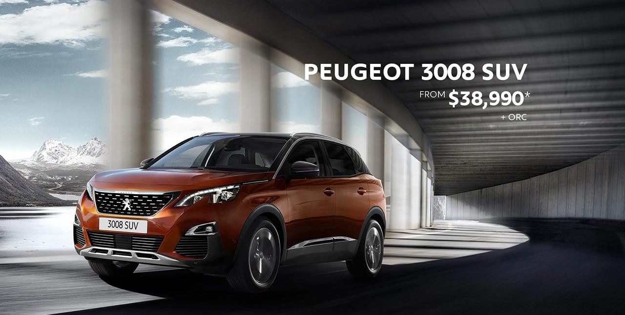 PEUGEOT 3008 SUV Significant Savings - Now From $38,990*
