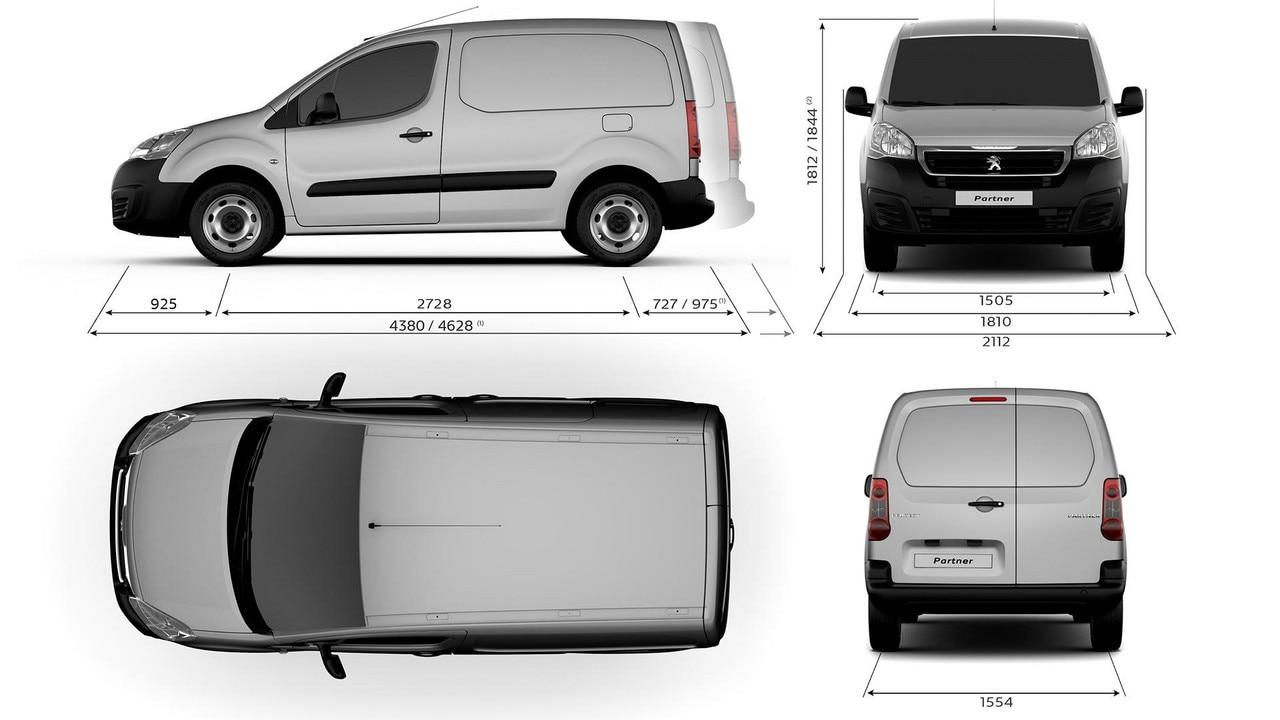 technical information peugeot partner showroom small work van. Black Bedroom Furniture Sets. Home Design Ideas