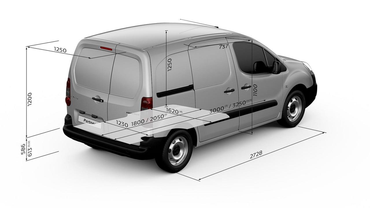 PEUGEOT Partner Van load length