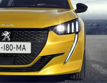 All-New PEUGEOT 208: Full LED Headlights With 3 Claws and LED Daytime Running Lights