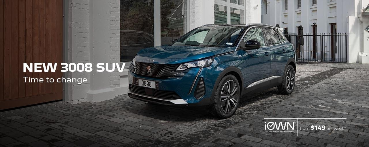 New PEUGEOT 3008 SUV Time To Change | iOWN Intelligent Ownership