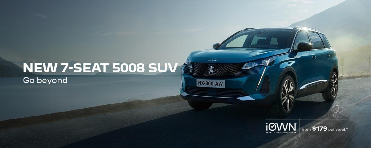 New 7-Seat PEUGEOT 5008 SUV Go Beyond | iOWN Intelligent Ownership