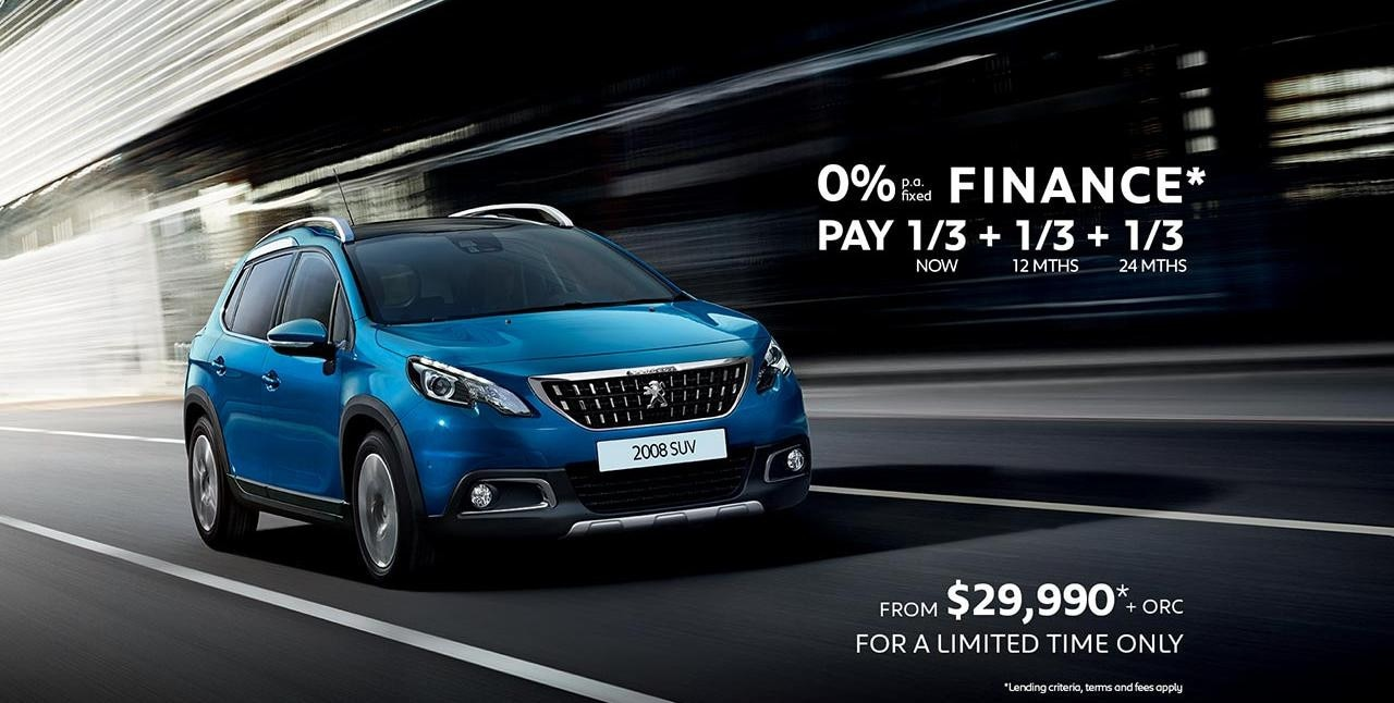 PEUGEOT 2008 SUV 0% p.a. Finance Offer*