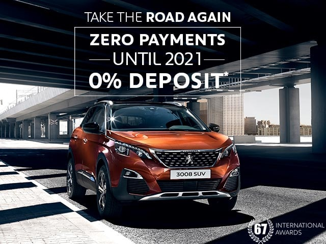 PEUGEOT 3008 SUV Offers | Zero Payments or Deposit Until 2021 | Take The Road Again