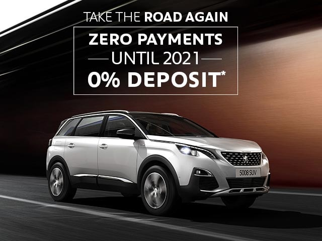 PEUGEOT 5008 7-Seat SUV Offers | Zero Payments or Deposit Until 2021 | Take The Road Again