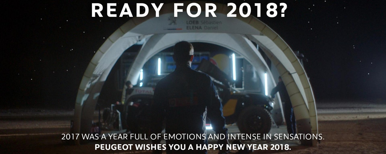 Happy New Year PEUGEOT 2018 e-Card