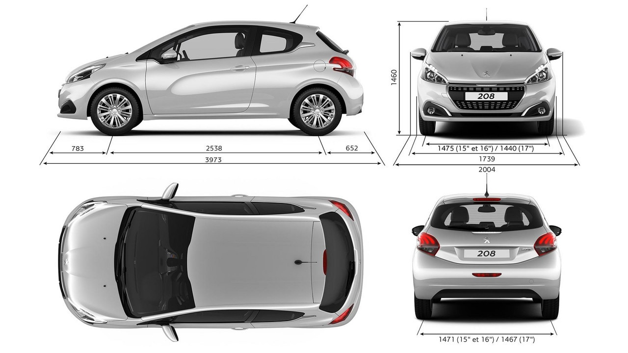 technical information peugeot 208 showroom small car. Black Bedroom Furniture Sets. Home Design Ideas