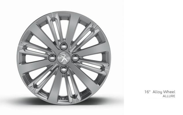 PEUGEOT 208 Allure alloy wheel