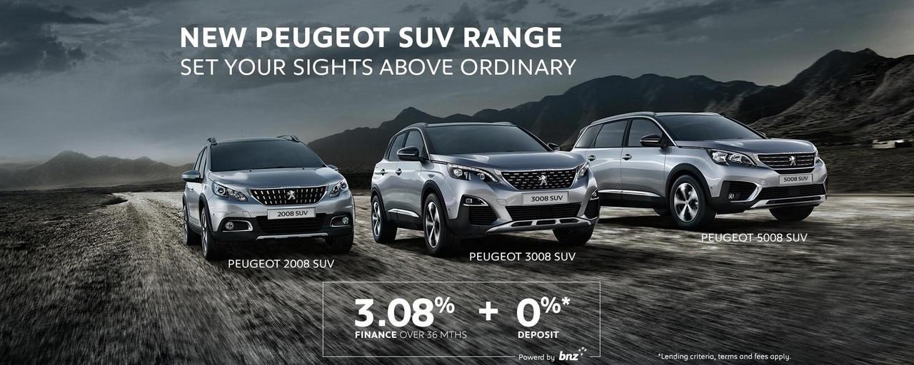 PEUGEOT SUV Range Finance Offer