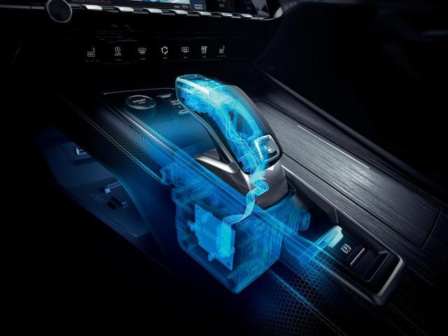 New PEUGEOT 508 saloon, EAT8 automatic gearbox with the Shift and Park by Wire electric gearbox system