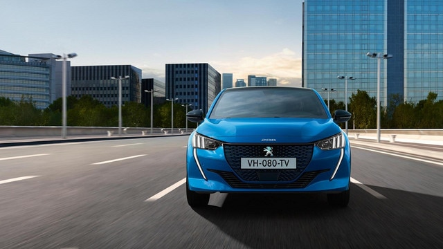 New PEUGEOT e-208 100% Electric Car | Image Gallery