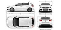PEUGEOT 308 Hatch Exterior Dimensions
