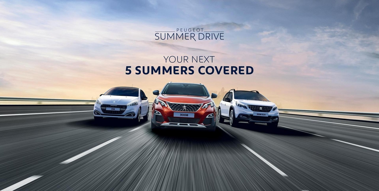 PEUGEOT Summer Drive Offer - Your Next 5 Summers Covered