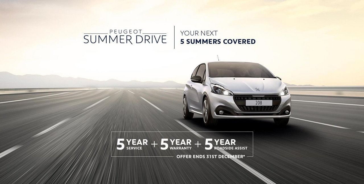 PEUGEOT 208 Summer Drive Offer - Your Next 5 Summers Covered