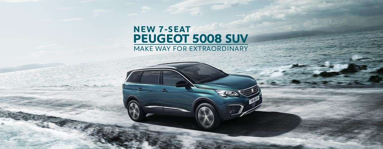 New 7 Seat PEUGEOT 5008 SUV. Make Way for Extraordinary