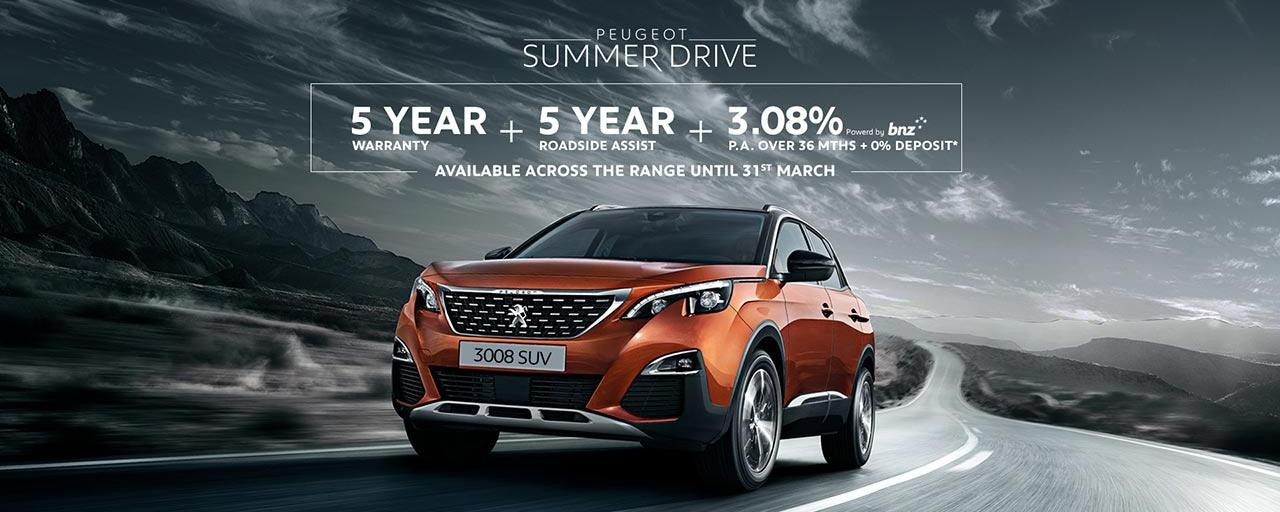 PEUGEOT Summer Drive Finance and Warranty Offer