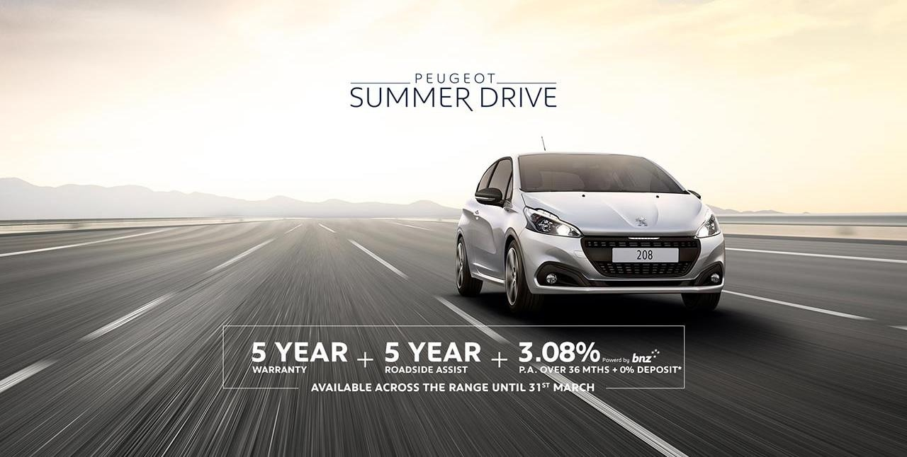 PEUGEOT 208 Summer Drive Finance and Warranty Offer