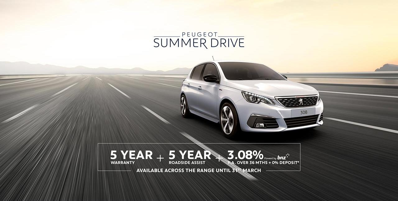 PEUGEOT 308 Summer Drive Finance and Warranty Offer