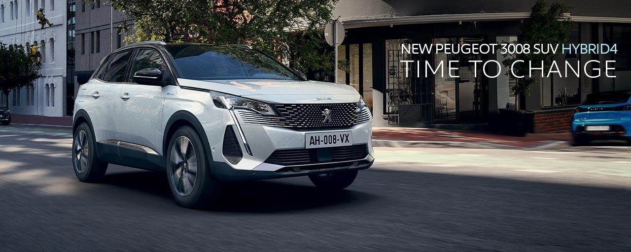 New PEUGEOT 3008 SUV HYBRID4 | Time To Change