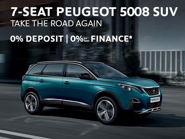 7-Seat PEUGEOT 5008 SUV | 0% Finance* Offer | Buy Now at your PEUGEOT Dealer