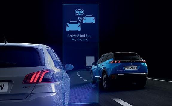PEUGEOT 2008 SUV Technology | Active Blind Spot Monitoring