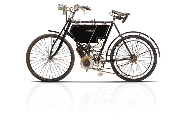 Two-wheelers – 1901 launch of the first 198 cc motorised bicycle