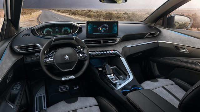 New PEUGEOT 3008 SUV HYBRID - Large HYBRID interior with Alcantara seats