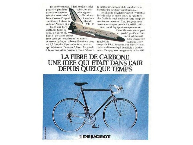 two-wheelers – article on the first Peugeot carbon bicycle