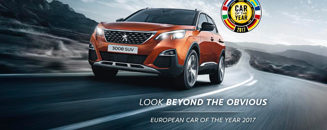 Peugeot 3008 Car of the Year 2017 homeslider