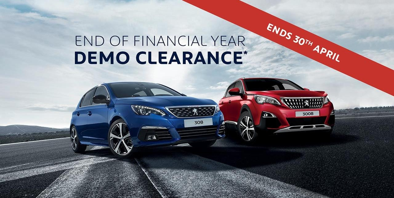 PEUGEOT End Of Financial Year Demo Clearance