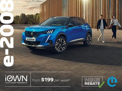 PEUGEOT e-2008 SUV Electric Car With iOWN Intelligent Ownership | From $199 per week* and Guaranteed Future Value