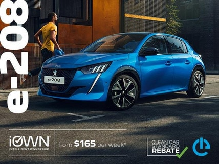PEUGEOT e-208 Electric Car With iOWN Intelligent Ownership | From $165 per week* and Guaranteed Future Value