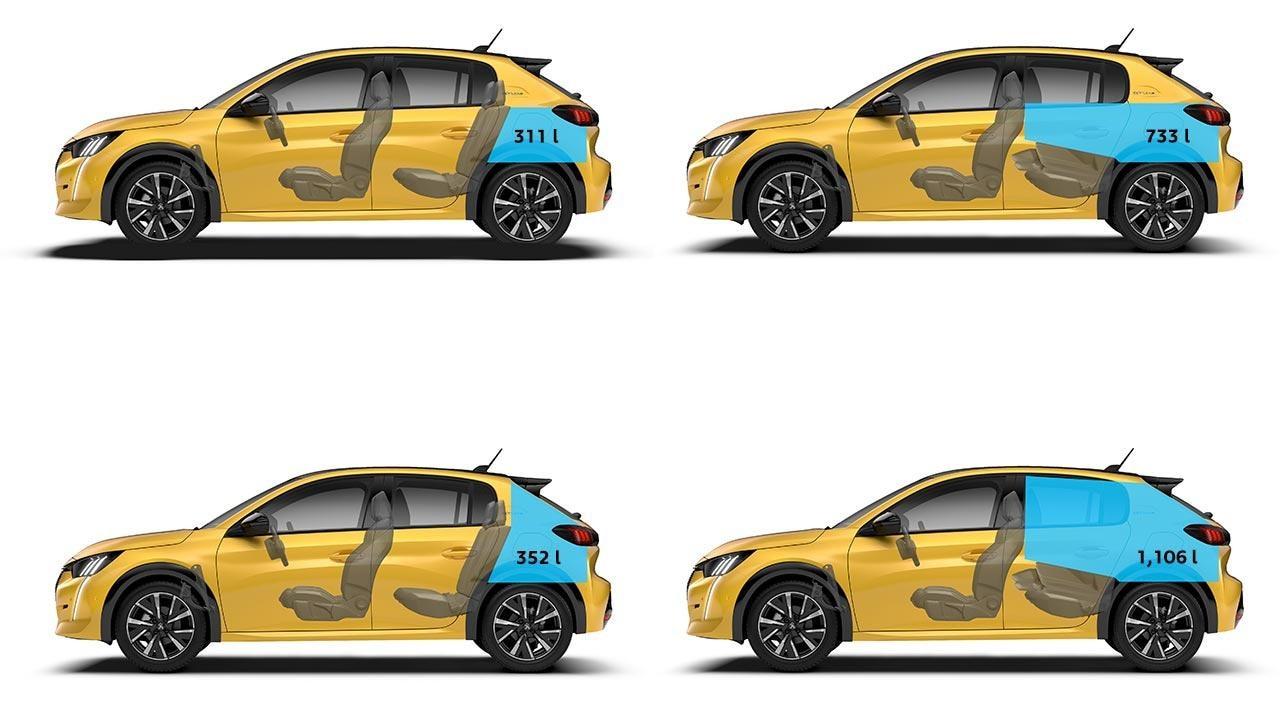 New PEUGEOT 208 Hatchback Dimensions | Boot Volume