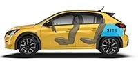 New PEUGEOT 208 Hatchback Dimensions | Boot Volume
