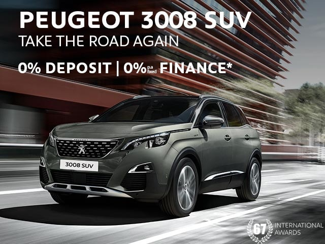 PEUGEOT 3008 SUV | 0% Finance* Offer | Buy Now at your PEUGEOT Dealer