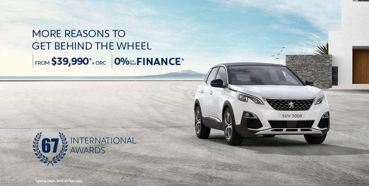 PEUGEOT 3008 SUV with 67 International Awards | From $39,990* + ORC