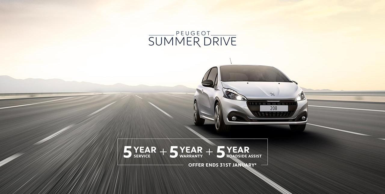 PEUGEOT 208 Summer Drive Offer - 5 Scheduled Services Free
