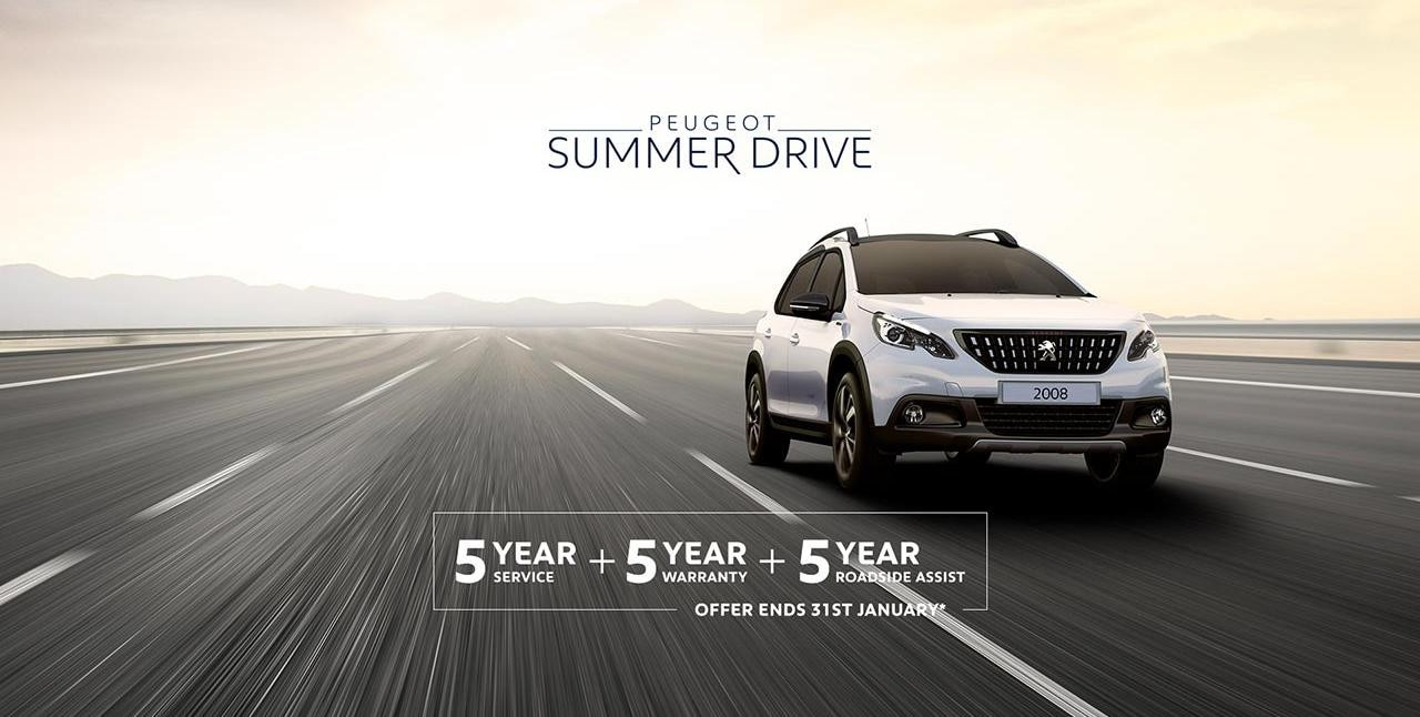 PEUGEOT 2008 SUV Summer Drive Offer - 5 Scheduled Services Free