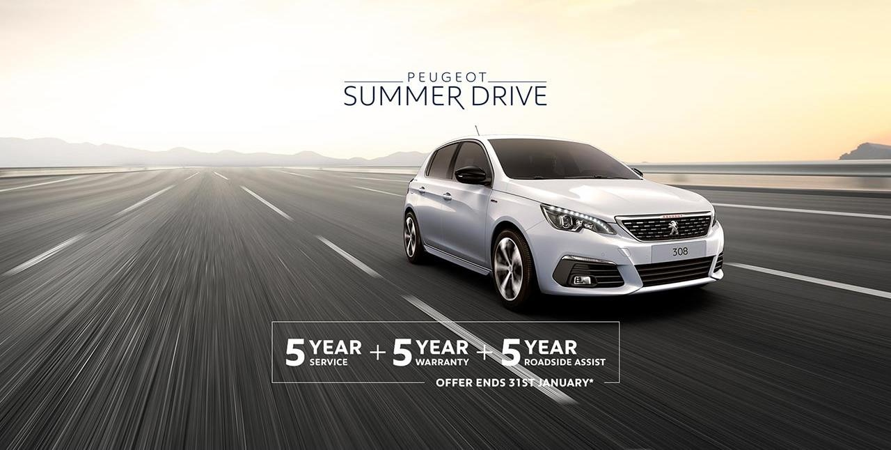 PEUGEOT 308 Summer Drive Offer - 5 Scheduled Services Free