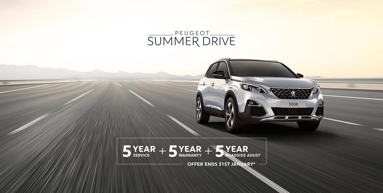 PEUGEOT 3008 SUV Summer Drive Offer - 5 Scheduled Services Free