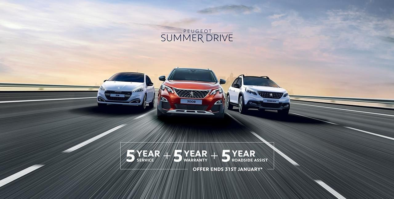 PEUGEOT Summer Drive Offer - 5 Scheduled Services Free