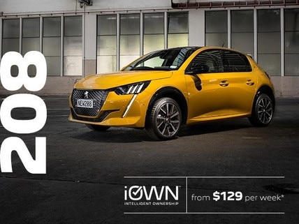 PEUGEOT 208 With iOWN Intelligent Ownership | From $129 per week* and Guaranteed Future Value