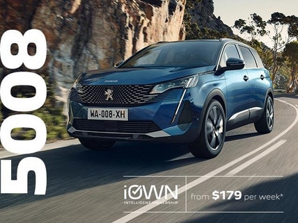 7-Seat PEUGEOT 5008 SUV With iOWN Intelligent Ownership | From $179 per week* and Guaranteed Future Value